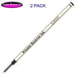 2 Pack - Private Reserve Ink Schmidt 5285 Extra Fine Rollerball Metal Refill - Black Ink