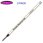 2 Pack - Private Reserve Ink Schmidt 5285 Extra Fine Rollerball Metal Refill - Blue Ink