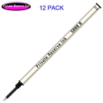 12 Pack - Private Reserve Ink Schmidt 5888 Rollerball Metal Refill - Black Ink Broad