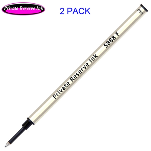 2 Pack - Private Reserve Ink Schmidt 5888 Rollerball Metal Refill - Black Ink Fine