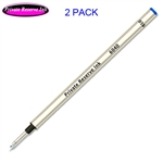 2 Pack - Private Reserve Ink Schmidt 6040 Fiber Tip Metal Refill - Blue Ink