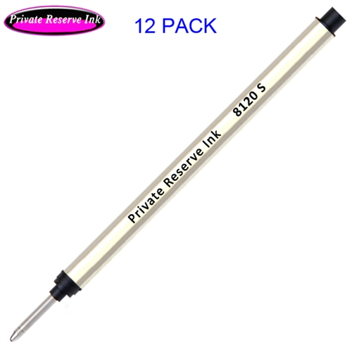 12 Pack - Private Reserve 8120 Capless Rollerball - Black Ink