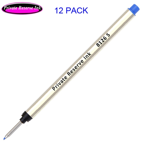 12 Pack - Private Reserve 8126 Capless Rollerball - Blue Ink