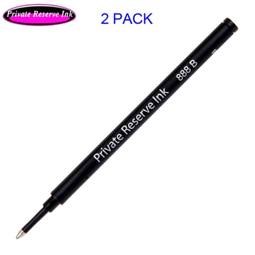 2 Pack - Private Reserve Ink Schmidt 888 Rollerball Refill Black Broad Tip