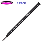 2 Pack - Private Reserve Ink Schmidt 888 Rollerball Refill Black Fine Tip