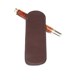 Leather Pen Slip – Brown Double