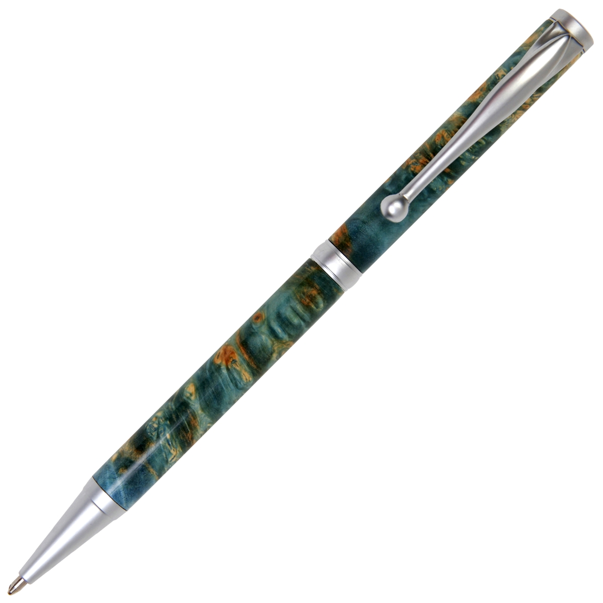 Slimline Twist Pen - Blue Box Elder
