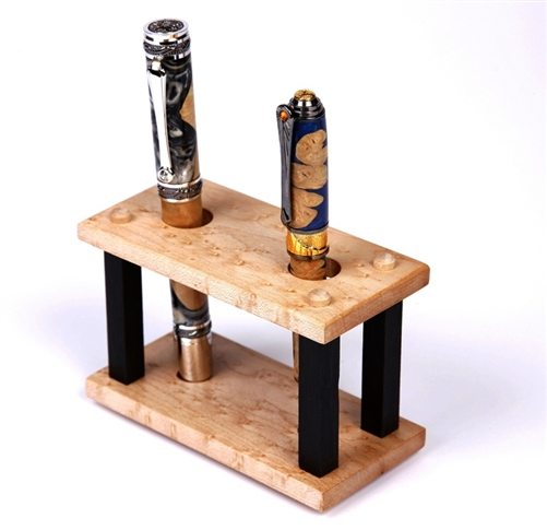 Maple Upright Pen Stand - 2 Pen