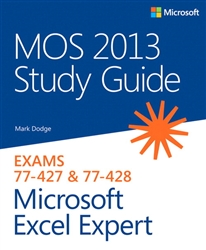 MOS 2013 Study Guide for Microsoft Excel Expert