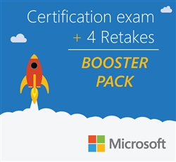 Microsoft Booster Pack: Certification exam + 4 retakes