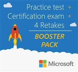 Microsoft Booster Pack: Certification exam + 4 retakes + practice test