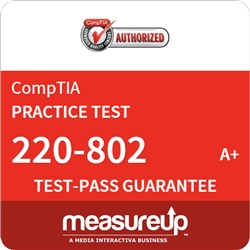 A+ Practical Application (220-802) - 30 Day Practice Test - CompTIA Authorized