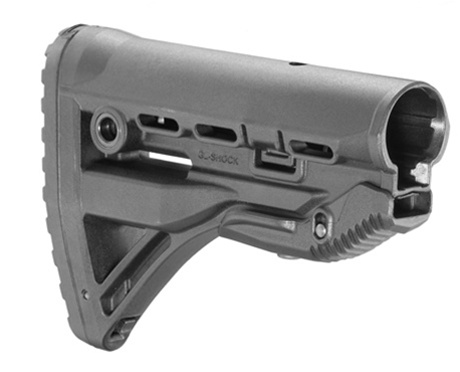 FAB Defense GL-Shock Recoil Reducing AR-15 Stock (Black)