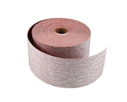 "20338 / Carbo Premier RED 2-3/4"" x 25 yd. 120 Grit A/O PSA Paper Shop Roll"
