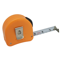 Left-handed Right-to-Left Read Retractable Tape Measure