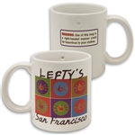 Only Lefties can drink safely from this mug!
