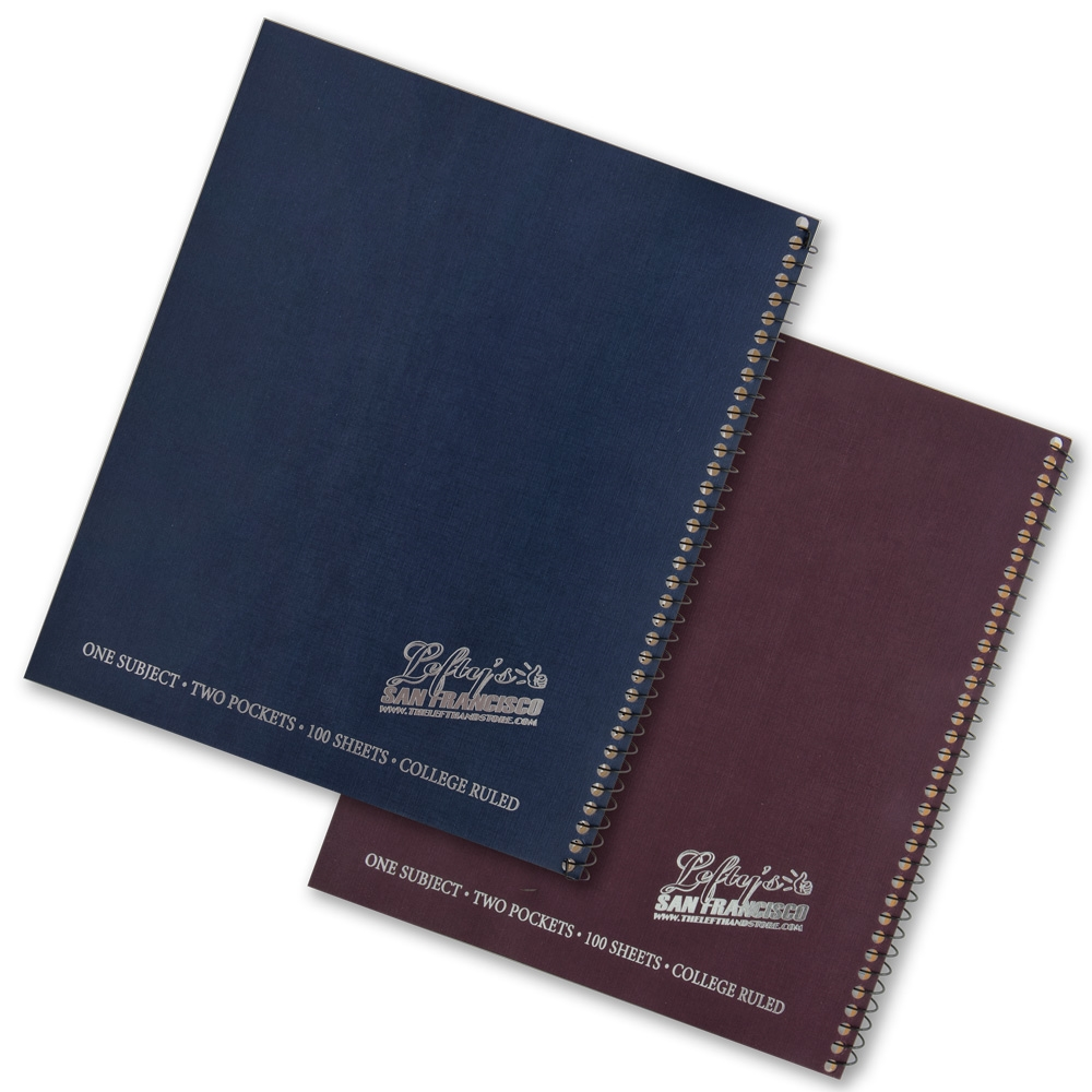 Lefty's Logo College Ruled Notebook