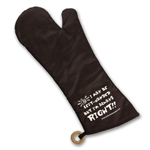 "18"" BBQ mitt protects your left hand and arm when working over hot coals."