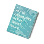 Lefty Graph Paper Spiral Notebook for the left hander