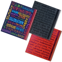Lefty Spiral Notebook: Left-Handed in different languages