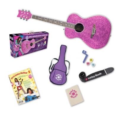 Pixie Acoustic Starter Pack Left Handed Pink Sparkle