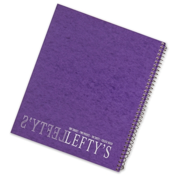 College ruled Spiral Notebook For Lefties