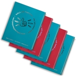 5 Left-Handed Wide-Ruled Spiral Notebooks - Assorted