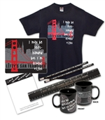 "7 Piece ""I May Be Left-Handed But I'm Always Right"" Set with Golden Gate Bridge Skyline"