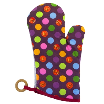 Lefty's Dots Oven Mitt - Left handed potholder
