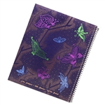 Butterflies cover this lefty notebook!