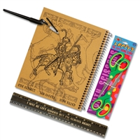 Four Piece Knight Left-handed Wide-Ruled Notebook Set