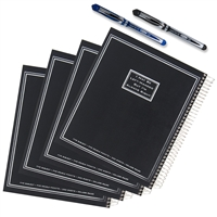 6 Piece Left-Handed 5 Subject Notebook Set, College Ruled