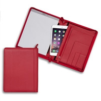 Red Zippered Left-Handed Padfolio
