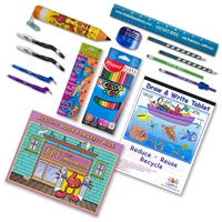 Complete Little Lefty Art Set with Blue Accessories