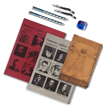 Boxed Left-Handed Sketchbook Set