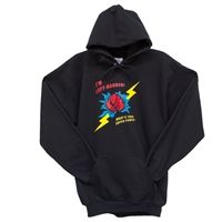 "Hoodie with ""I'm Left Handed. What's Your Super Power?"""