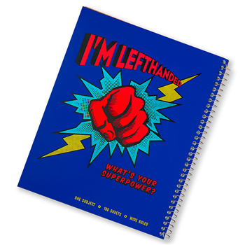 Super Power Metallic Cover Wide-Ruled Left-Handed Notebook