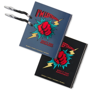 Left-Handed Super Power Notebook Set with Pens