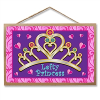 Lefty Princess Wooden Sign