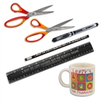 "5 Piece Essential Left-handed Office Set with ""I may be left handed, but I am always right"" saying."