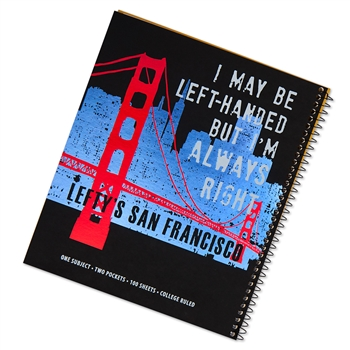 San Francisco Skyline College-Ruled Left-Handed Notebook