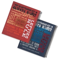 Left-Handed Three Subject Spiral Notebook with Lefty Sayings