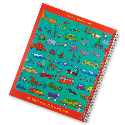 Left-Handed Wide Ruled Traffic Notebook