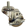 "028-80016-00 RTI 3"" Diameter Swivel Caster With Brake (Rubber Tires Gray)"