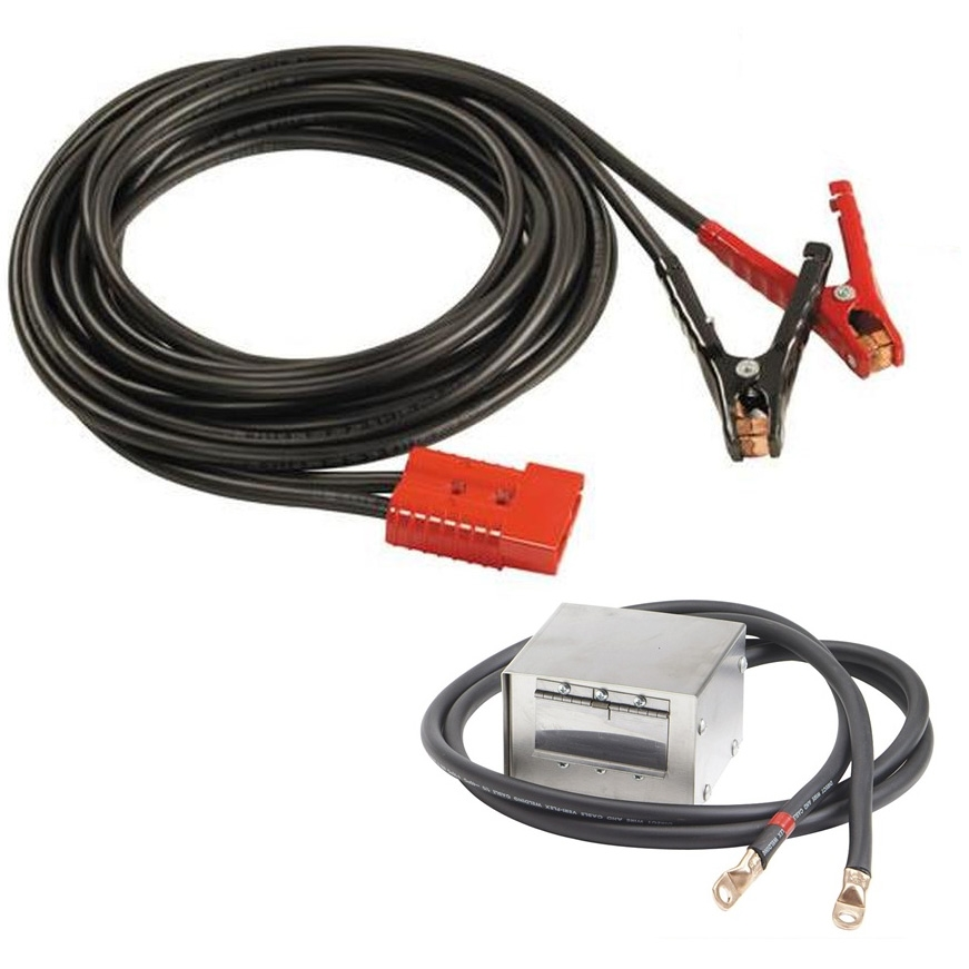 Associated Equipment 6139 30 Stainless Steel Polarized Plug-In Cable Set with Socket Box
