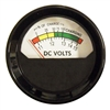 247-095-666 Voltmeter Round 11-15 Volt DC (Threaded Post Terminal Connections)