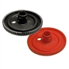 501024-001 Red / Black Side Post Rigid Battery Cap, Wide (Pair)