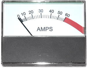 51-257 Goodall Ammeter Horizontal 0-60 Amp Range With Start (100 Amp)