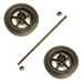 "51-286 Goodall Wheels Hubs Axle Set 6"" Wheeled Units"
