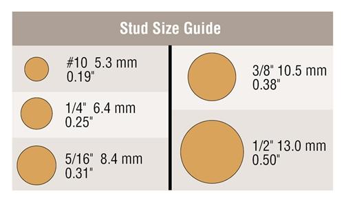 "1//4/"" Stud Copper Lugs 3//0 Ga Pack of 5"